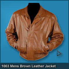 1003 Mens Fashion Brown Leather Jacket