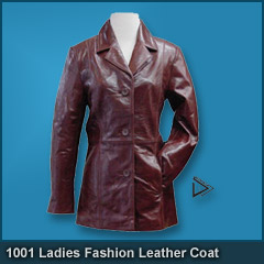 1001 Ladies Fashion Leather Coat